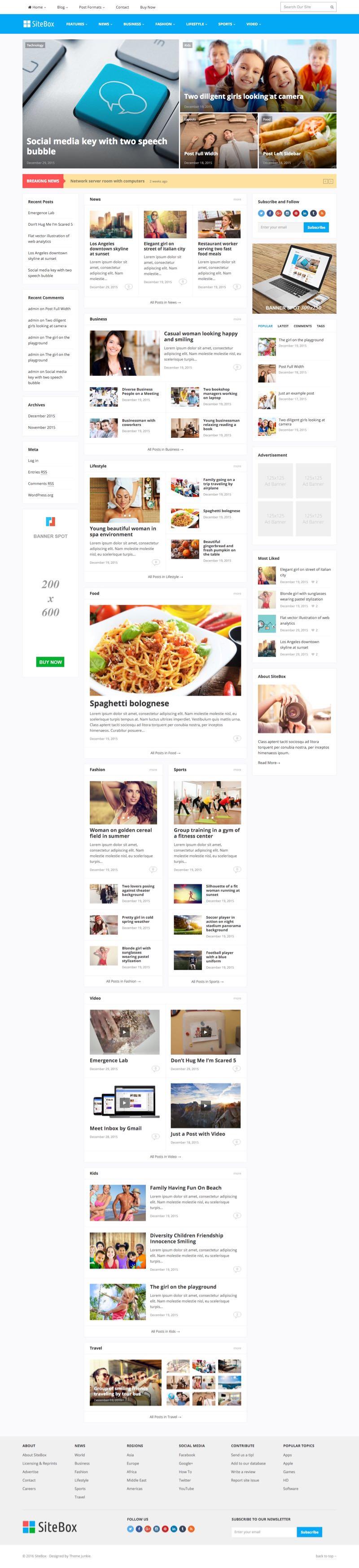 SiteBox WordPress SEO Friendly Magazine Theme