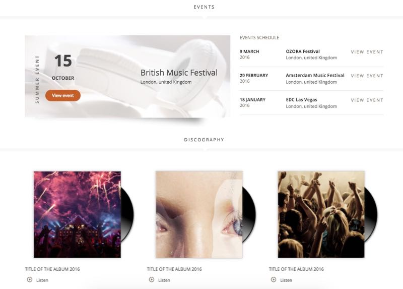 Superstar WordPress Musicians Theme