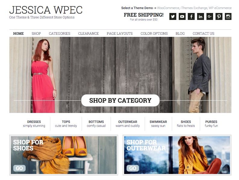 Jessica WP e-Commerce Plugin Theme