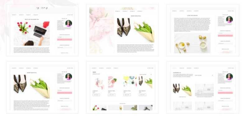 Pretty WordPress Female Blogger Theme