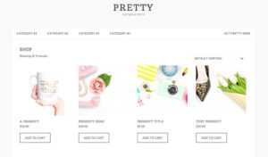 Pretty WordPress Female Entrepreneur or Blogger Theme