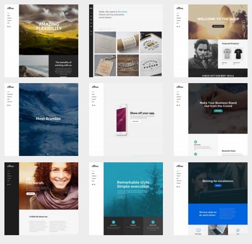 Bramble 9 Prebuilt Homepage Layouts Theme