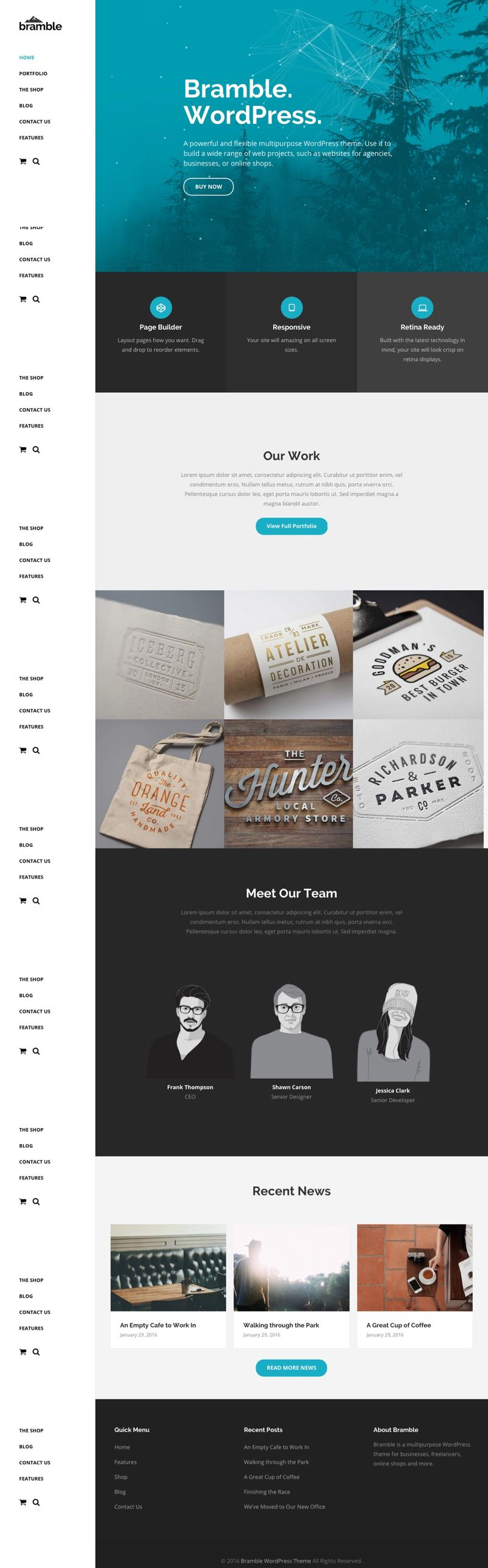 Bramble WordPress Agency or Business Theme