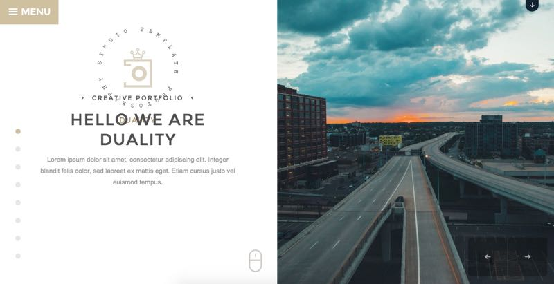 Duality Theme - Intro Homepage with Features Slider