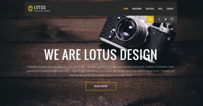 Lotus WordPress Personal Or Business Theme