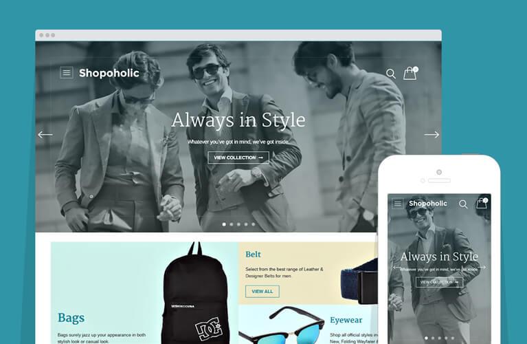 Shopoholic WordPress e-Commerce Theme for Store / Shopping