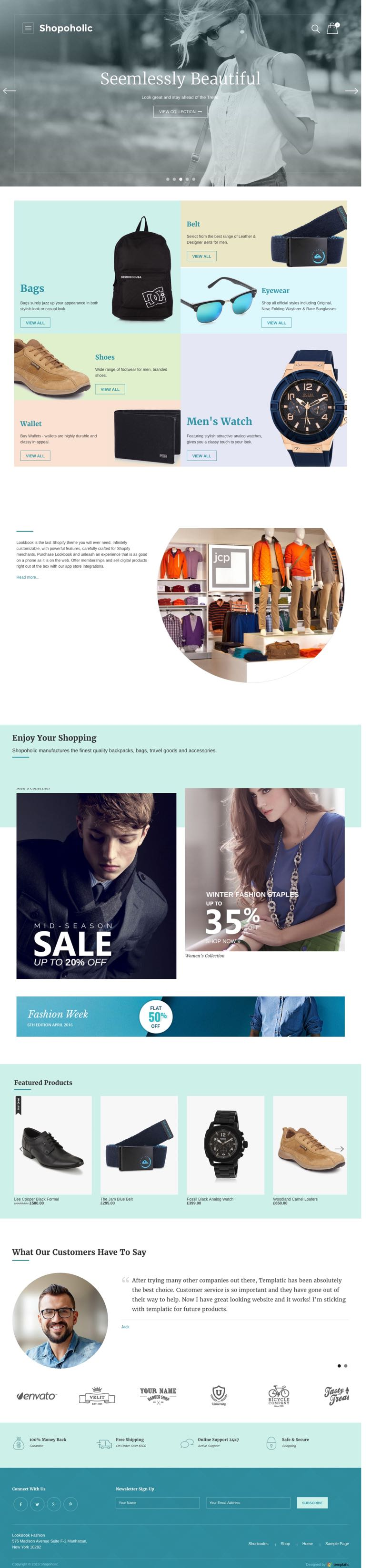 Showcase Products By Categories in Shopoholic Theme