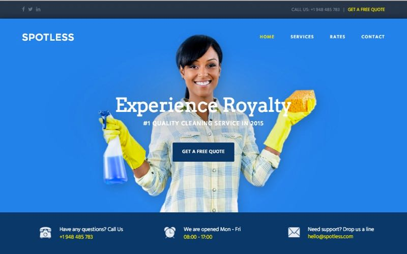 Spotless WordPress Cleaning Service Theme