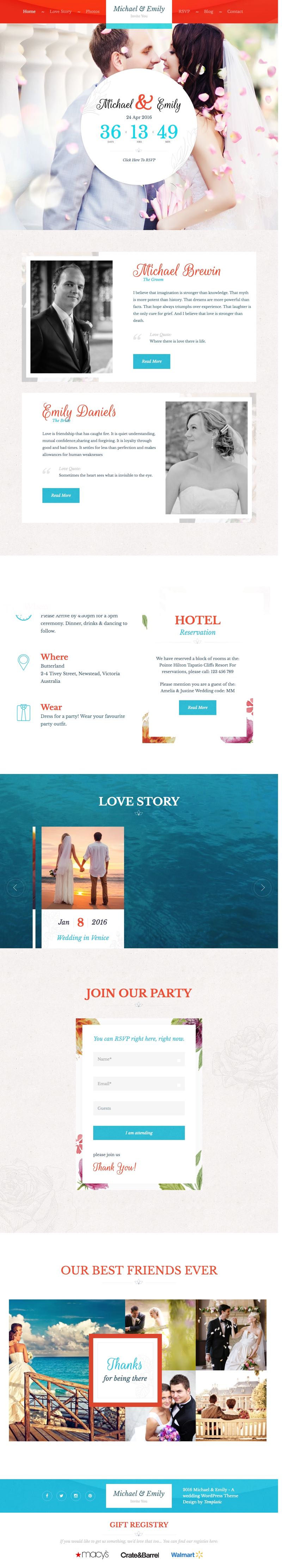 Wedding WordPress Marriage Ceremonial Theme