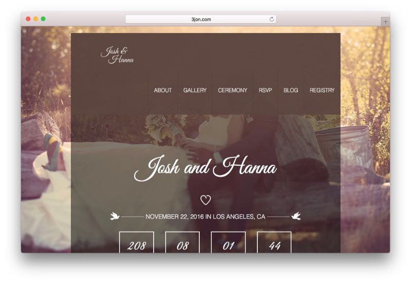 Aimer Unique Modern WordPress Wedding Theme