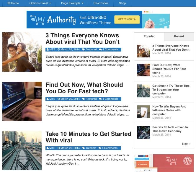 Authority Tech WordPress Technology Blog Theme