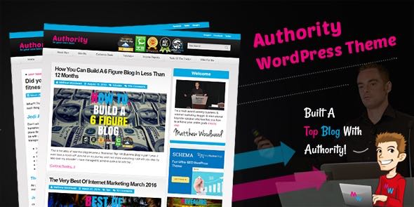 Authority WordPress Internet Affiliate Marketer Blog Theme