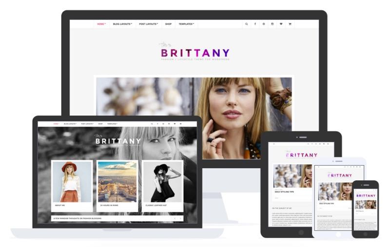 Brittany WordPress Lifestyle Bloggers Theme