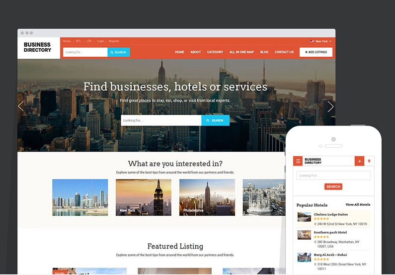 Business Directory Portal WordPress Theme