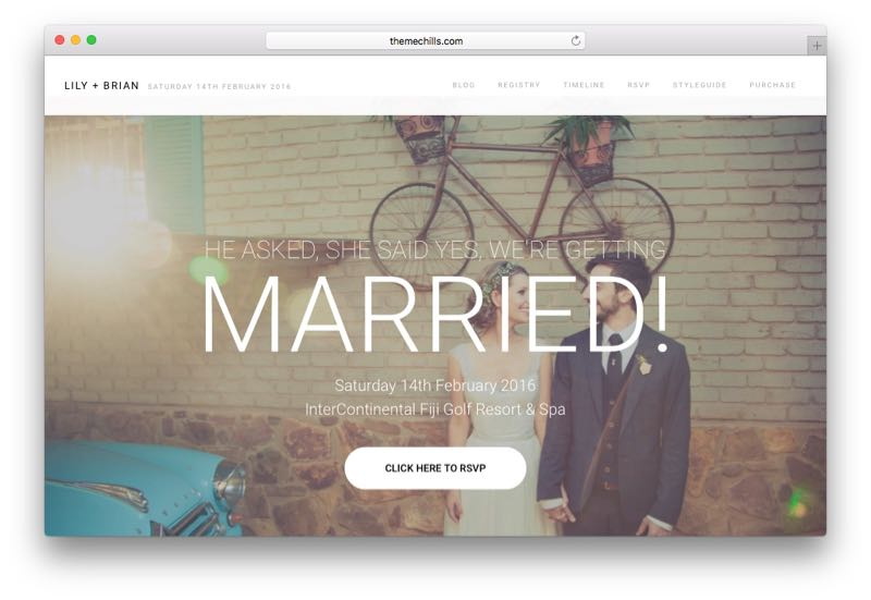 Lily Responsive WordPress Wedding Theme
