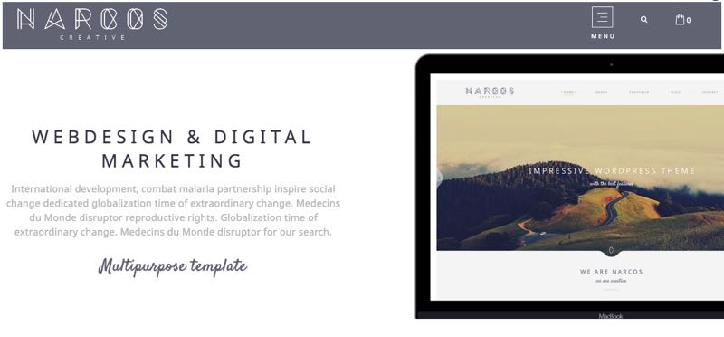 Narcos WordPress Multipurpose Theme