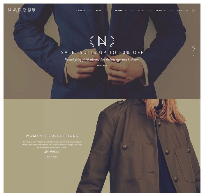 Narcos WordPress Theme - Home Business Parallax Design
