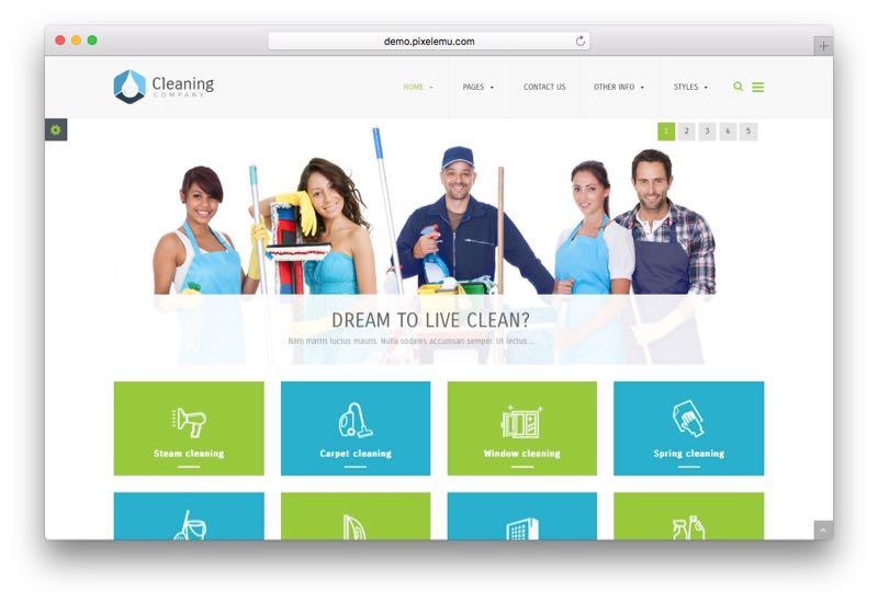 PE Cleaning Company WordPress Modern Service Theme