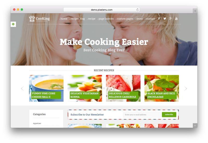 PE Cooking Blog WordPress Food Blog Theme