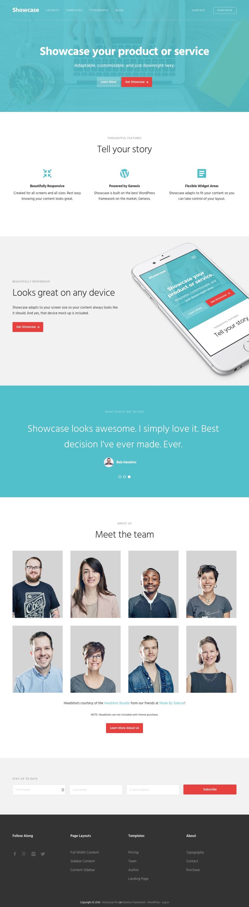 Showcase Pro WordPress Product or Services Theme