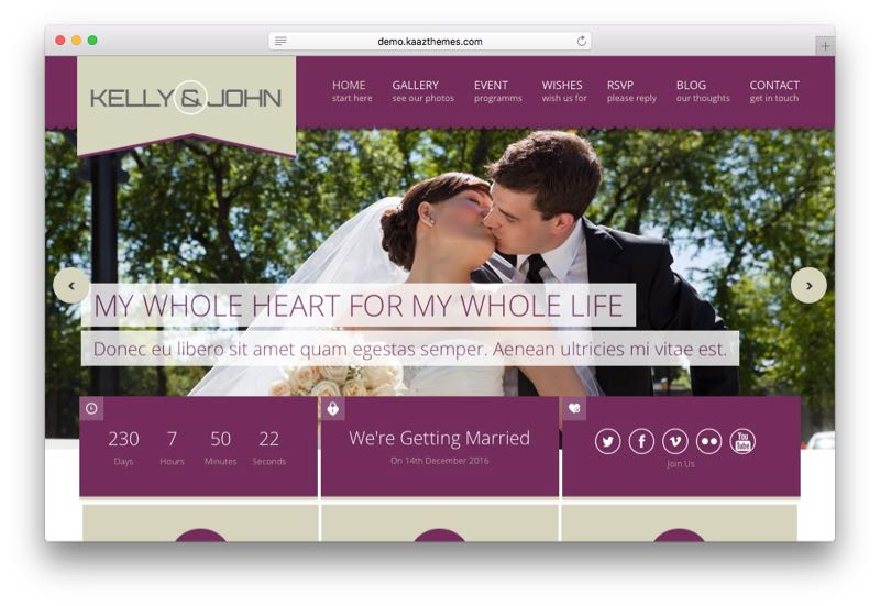 Soul Minimal Responsive WordPress Wedding Theme