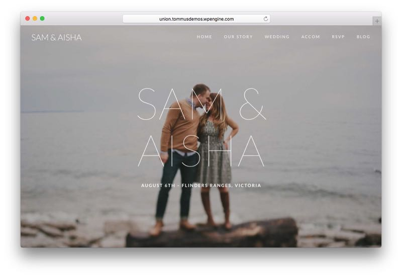 Union WordPress Wedding & Event Theme