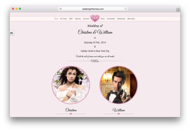 Wedding Event WordPress Marriage Invitation Theme