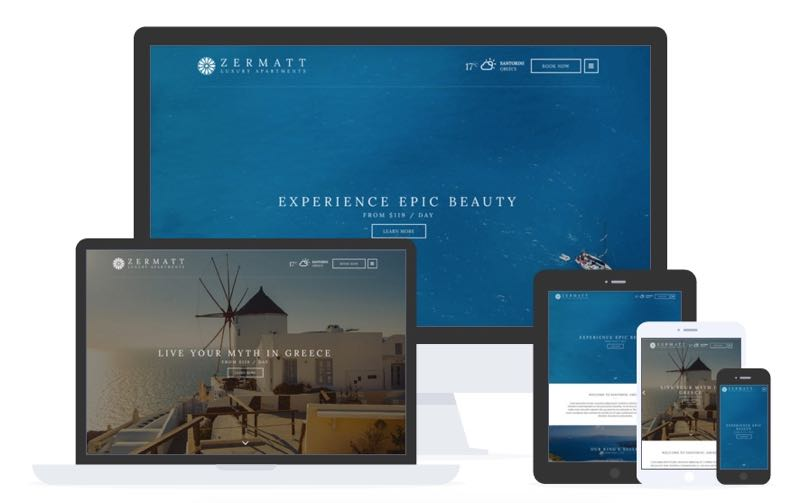 Zermatt WordPress Hotel or Resort Theme