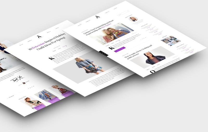 Aesthetic WordPress Theme for Fashion & Lifestyle Bloggers