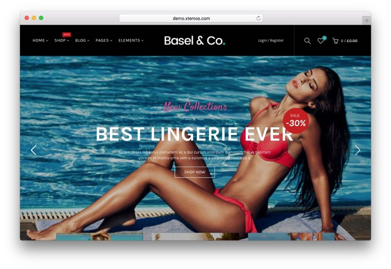 Basel Ajax Responsive WordPress WooCommerce Theme
