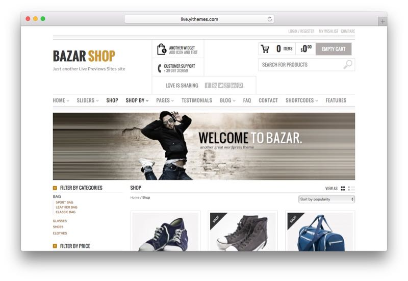 Bazar Shop WordPress Theme for WooCommerce