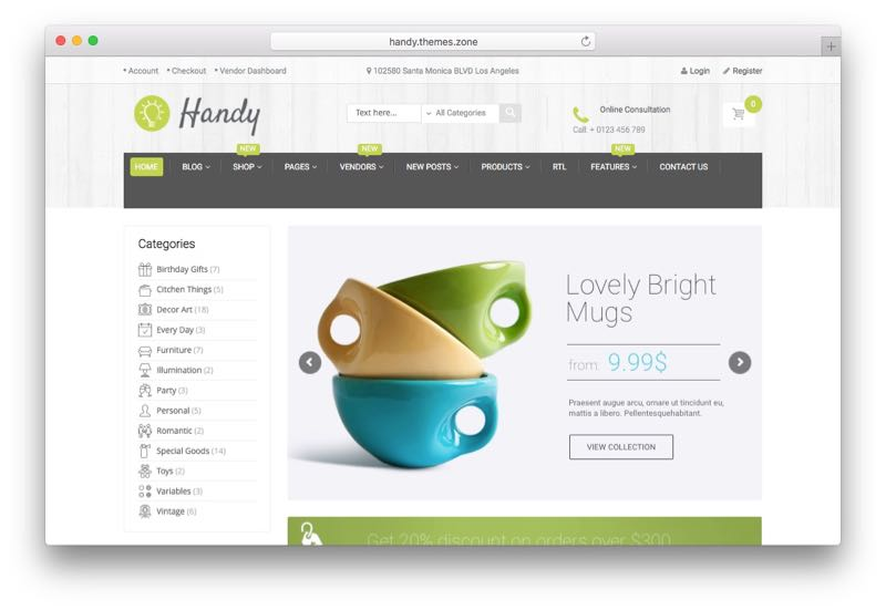 Handy Sell Handmade Goods Marketplace WooCommerce Theme