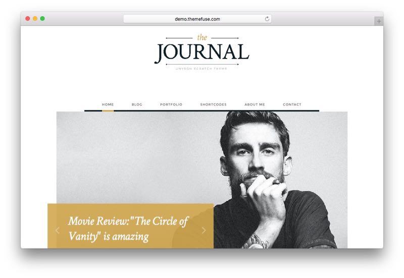 Journal – Free WordPress Blog or Online Magazine Theme