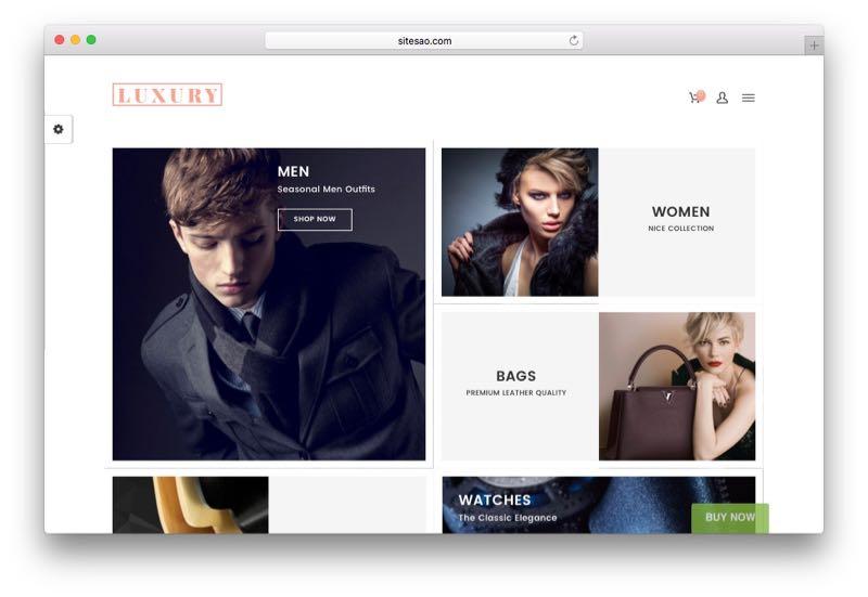 Luxury Dynamic Responsive WordPress WooCommerce Theme