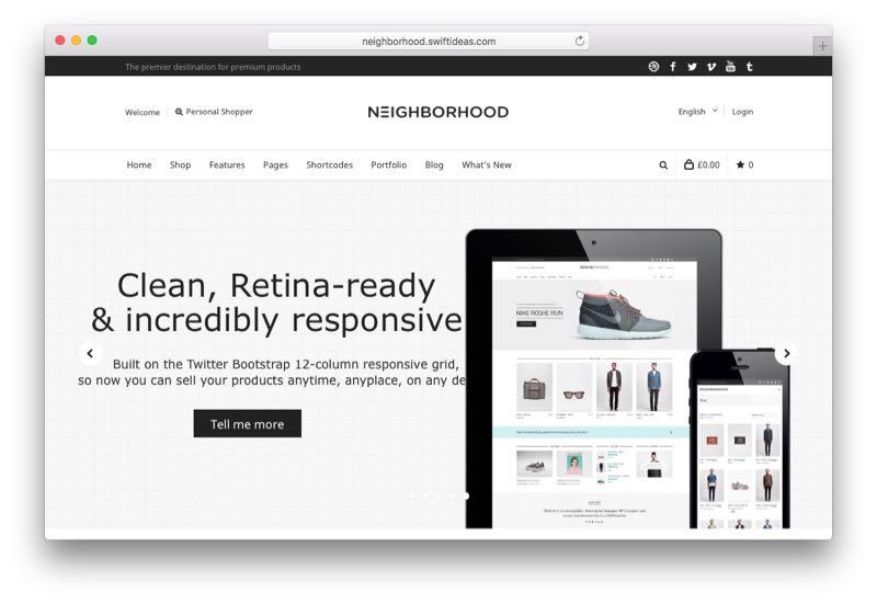 Neighborhood Multipurpose WooCommerce Theme