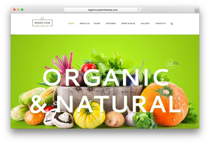 Organic Store Food & Eco Products WooCommerce Theme