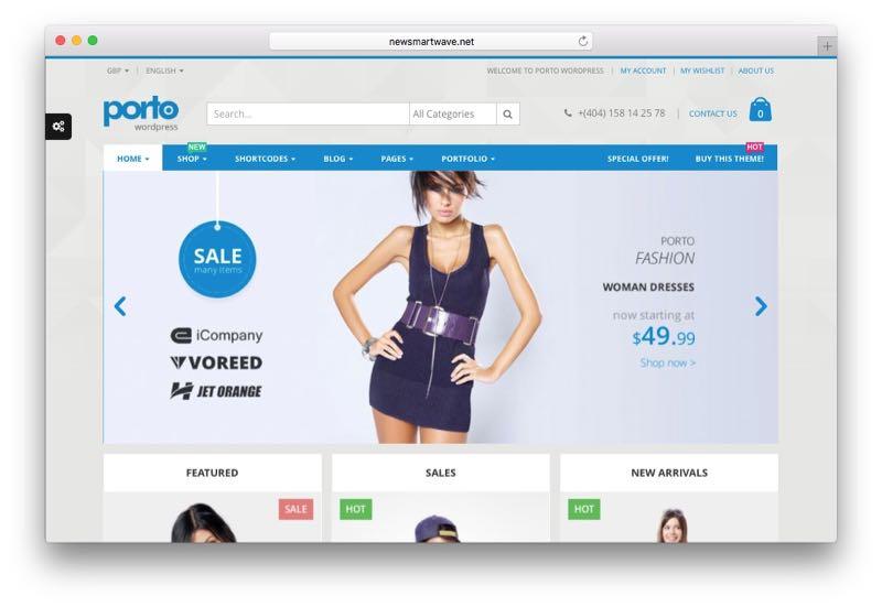 Porto Super Fast Responsive WordPress WooCommerce Theme