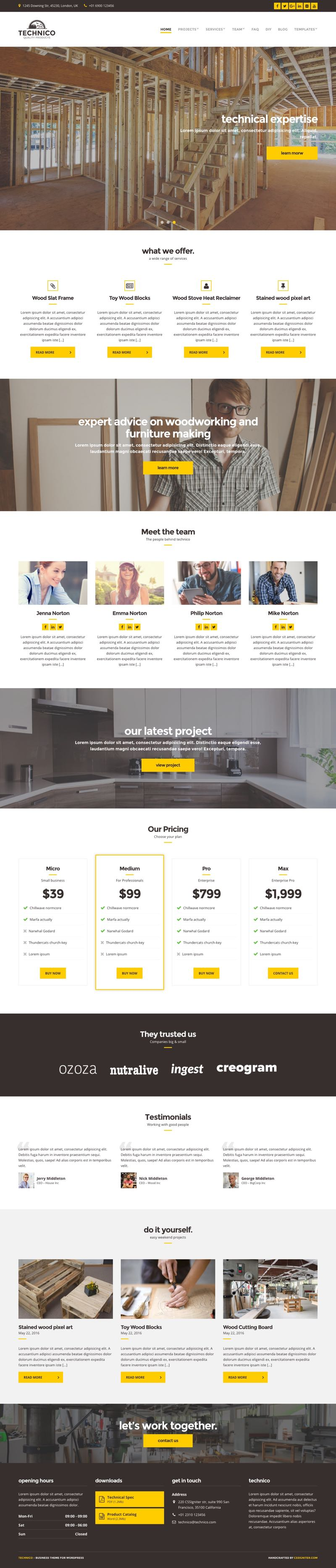 Technico WordPress Construction Company Theme