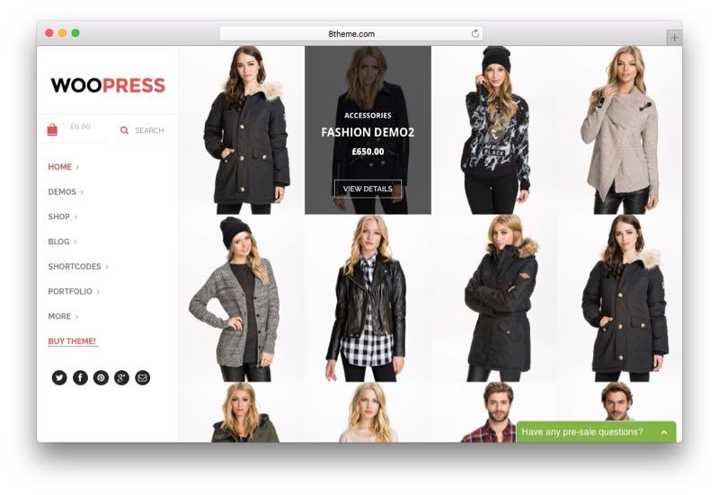 WooPress Online Shop WordPress WooCommerce Theme