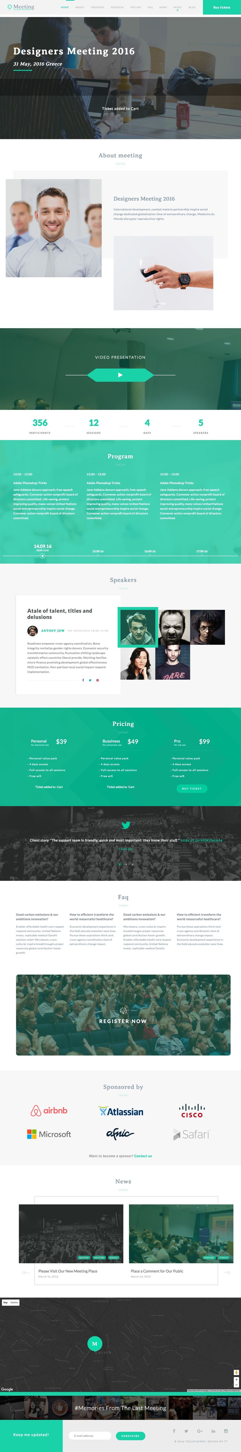 Meeting WordPress One Page Event Theme