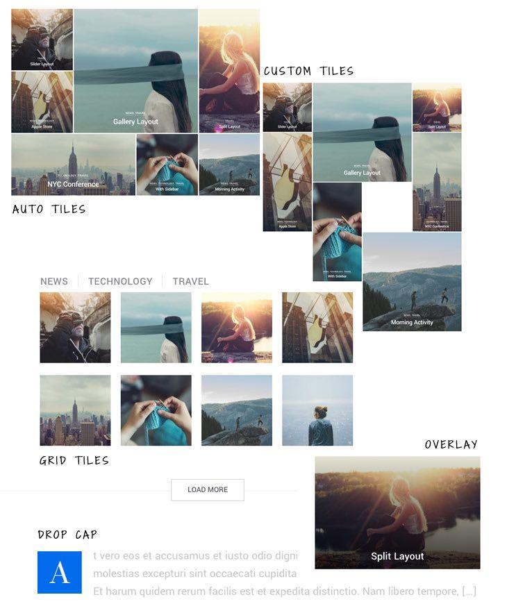 Peak WordPress Theme - Archive Layouts