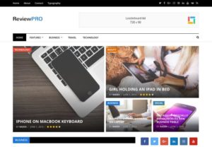 ReviewPro WordPress Drag & Drop Magazine Review Theme