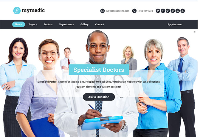 MyMedic WordPress Hospitals & Health Clinics Theme