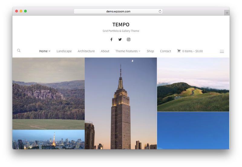 tempo-photography-wordpress-theme