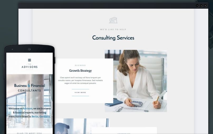 The Advisors Theme For Business & Finance Consulting Companies