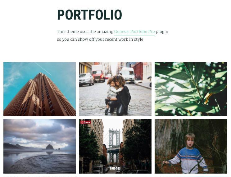 A free Genesis Portfolio Plugin by StudioPress