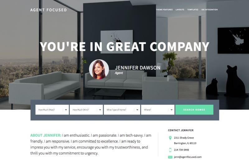 Agent Focused Pro WordPress Real Estate Listing Theme