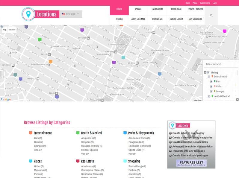 WP Locator WordPress Geo-Location Theme