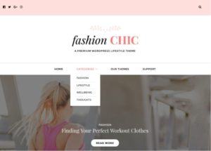 Fashion Chic WordPress Lifestyle Blogging Theme