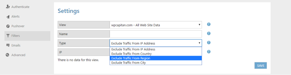 Google Analytics Setting